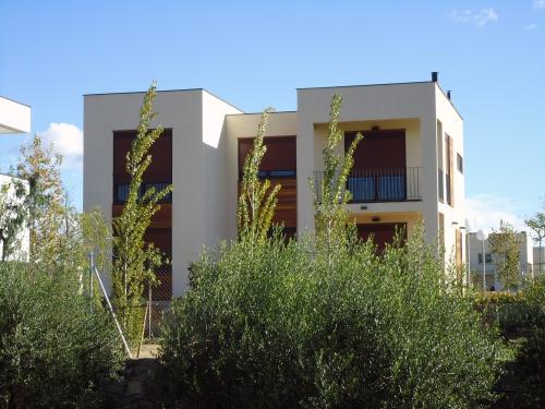 vista exterior casa de madera prefabricada Vilas Anderson