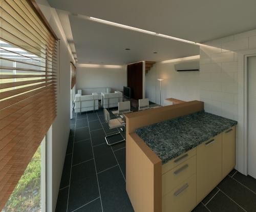 interior casa prefabricada Vilas Anderson