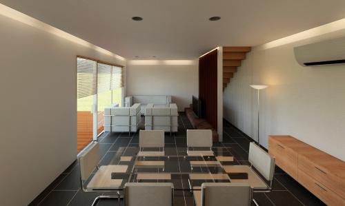 salon casa de madera prefabricada Vilas Anderson
