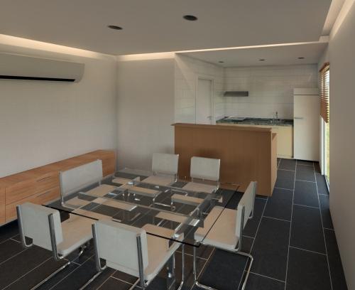 comedor casa de madera prefabricada Vilas Anderson