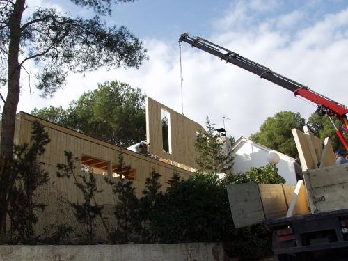 montaje casa de madera prefabricada Vilas Anderson