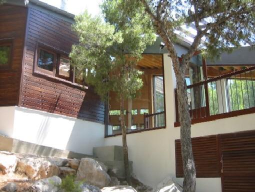 detalle casa de madera prefabricada Vilas Anderson