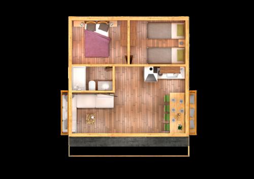 vilas anderson bungalow moderno plano distribución