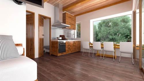 vilas anderson bungalow moderno vista interior