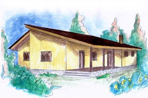 plano casa de madera alvesta