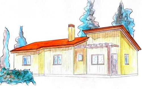 plano casa de madera arlika