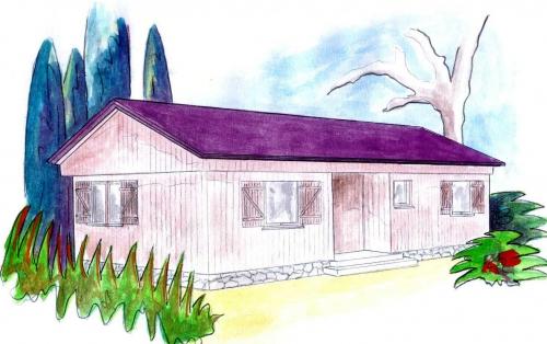 plano casa de madera avan