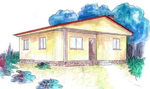plano casa de madera falun