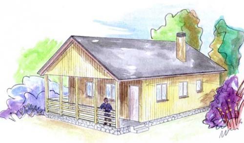 plano casa de madera hallen