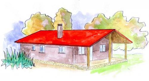 plano casa de madera javre
