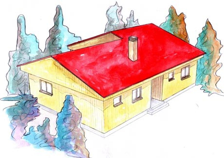 plano casa de madera kinna