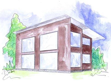plano casa de madera lilden