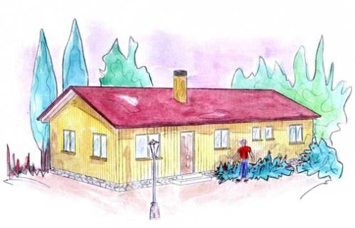 plano casa de madera nybro
