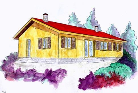 plano casa de madera osmo