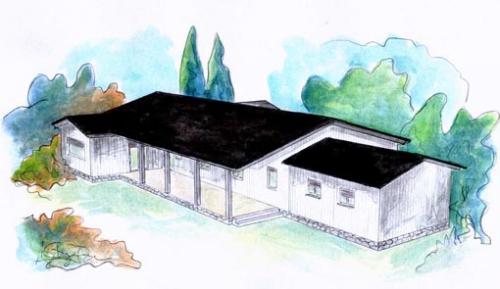 plano casa de madera sundsvall