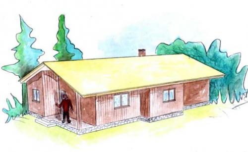 plano casa de madera sveg