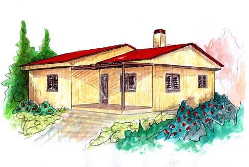 plano casa de madera ystad