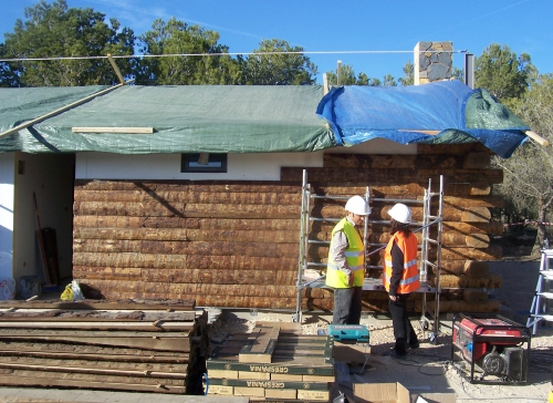 montaje casa prefabricadas para parque temático
