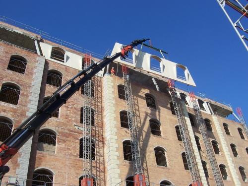 paredes prefabricadas montaje hotel