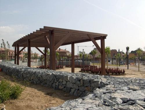 pergola de madera para ayuntamiento