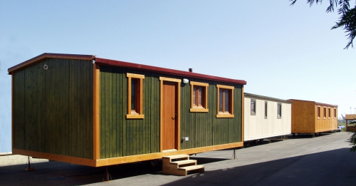 camping, mobil-home verde