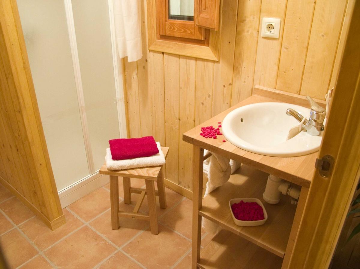 camping, mobil-home, baño