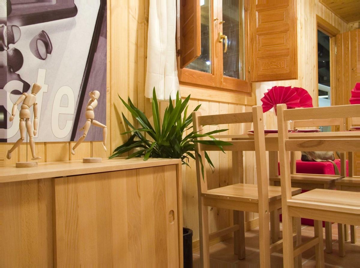 camping, mobil-home, salon