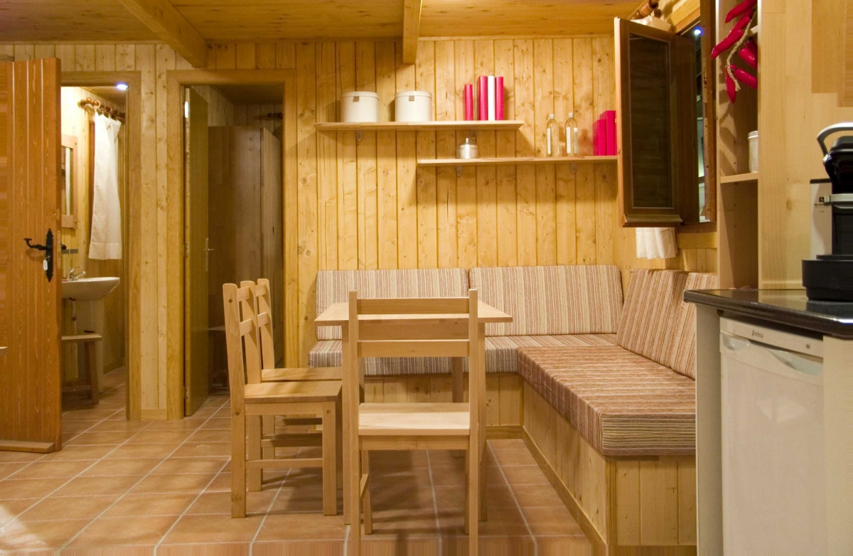 comedor, camping, mobil-home
