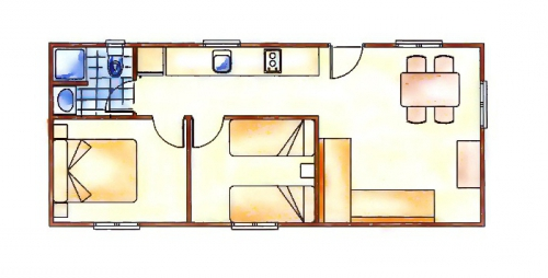 plano mobil home elin-2h