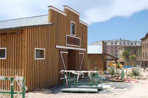 edificios prefabricado de madera para restaurante, vilas anderson