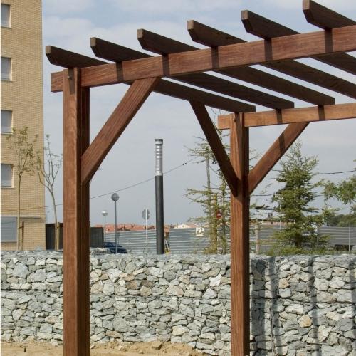pergola madera para jardín