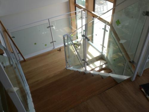 escalera interior, vilas anderson, casa prefabricada