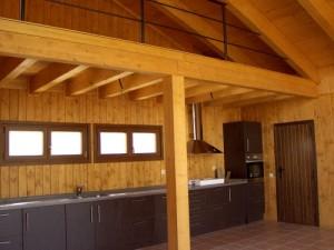 interior casa prefabricada de madera
