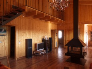 Interiores casa de madera